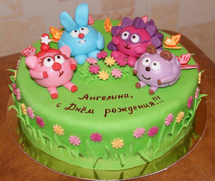 Детские торты со смешариками фото
